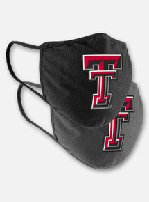Arena Texas Tech Red Raiders Face Mask with Double T in Black and Grey 2-Pack