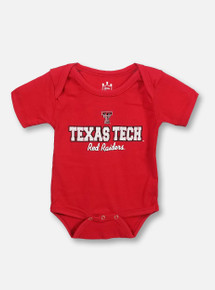 """Texas Tech Red Raiders Onesie """"Lined Right"""""""