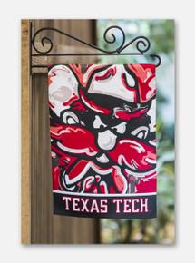 """Texas Tech Red Raiders """"Justin Patten"""" Suede Raider Red Garden flag"""