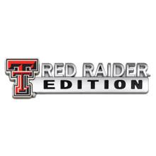 Texas Tech Red Raider Edition Metal Car Emblem