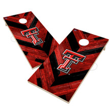 Texas Tech Red Raiders Solid Wood 2x4 Cornhole Board Set- Herringbone Design