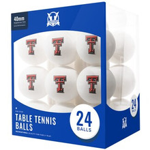 Texas Tech Red Raiders 24 Count - Table Tennis Balls