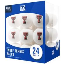Texas Tech Red Raiders 24 Count - Table Tennis Balls