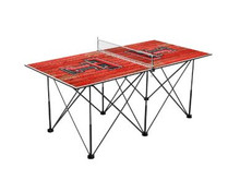 Texas Tech Red Raiders Pop Up Table Tennis 6ft - Weathered Design