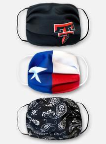 Texas Tech Red Raiders 3-Pack of Men's Face Masks