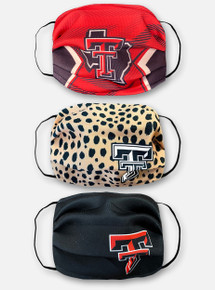 Texas Tech Red Raiders Face Mask Family 3-Pack