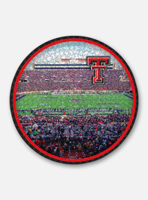 Texas Tech Red Raiders Round Stadium 500 Piece Puzzle