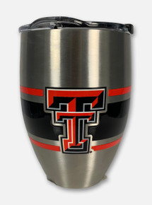 Texas Tech Red Raiders Stripes 12oz Tumbler
