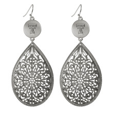 Emerson Street Double T Silver Teardrop Earrings