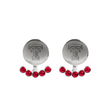 Emerson Street Double T Front -Back Stud w/ Jewels Earrings