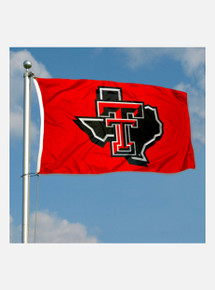 Texas Tech Red Raiders Red 3' x 5' Silk Screen Flag w/ Pride Logo