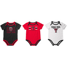 "Arena Texas Tech Red Raiders ""Sand Castles"" Set of 3 INFANT Onesies"