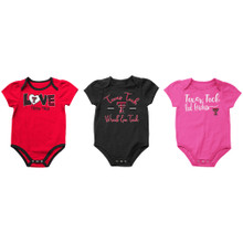 "Arena Texas Tech Red Raiders ""Formula"" Set of 3 INFANT Onesies"