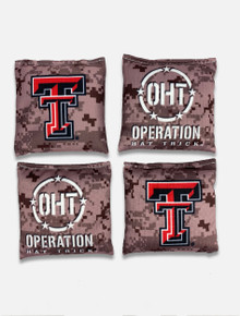"Texas Tech Red Raiders Weather Cornhole Bags - ""Operation Hat Trick"""