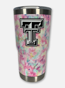 Texas Tech Red Raiders Double T Tie Dye Double Walled 20 oz Travel Tumbler