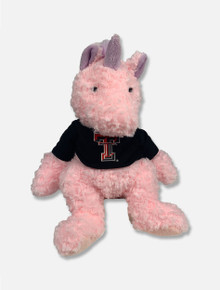Texas Tech Cuddle Buddy Pink Unicorn Plush Animal