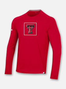 Front Profile Texas Tech Red Raiders Under Armour Sideline 2020 Training Tee Long Sleeve T-Shirt in Red