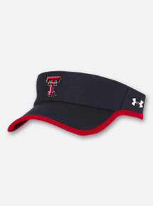 Front View Texas Tech Red Raiders Under Armour Sideline 2020 Armour Visor in Black