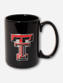 Texas Tech Enamel Double T Emblem Coffee Mug