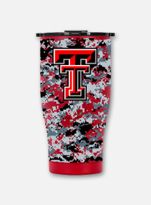"Front View Texas Tech Red Raiders Orca Digital ""Chaser"" Double Walled Travel Tumbler"
