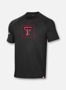 Front View Texas Tech Red Raiders Under Armour Sideline 2020 Training Tee in Black