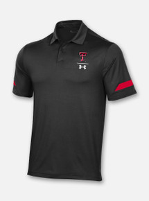 Texas Tech Red Raiders Under Armour Sideline 2020 Elevated Polo in Black