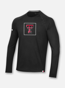 Youth Texas Tech Red Raiders Under Armour Sideline 2020 Training Tee Long Sleeve T-Shirt in Black