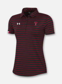 Black Texas Tech Red Raiders Under Armour Women's Sideline 2020 Polo Front View