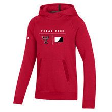 """Texas Tech Red Raiders Under Armour YOUTH Sideline 2020 """"Campus"""" Fleece Hood"""