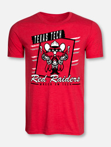 """Texas Tech Red Raiders """"Vintage Framed Up"""" Raider Red T-Shirt Front View"""