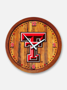 Texas Tech Red Raiders Double T Barrel Clock