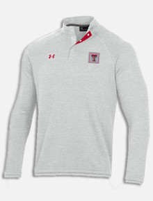 "Texas Tech Red Raiders Under Armour Sideline 2020 ""Campus Fleece"" Quarter Snap in Grey"