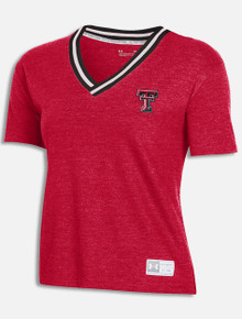 "Texas Tech Red Raiders Under Armour Women's ""Jam Up"" Gameday Double T V - Neck T-Shirt"