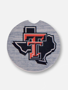 Texas Tech Red Raiders Pride Logo Single Pack Ceramic Car Coasters