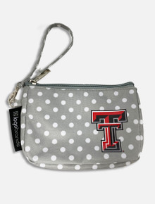 Texas Tech Red Raiders Double T Polka Dot Wristlet