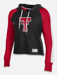"Texas Tech Red Raiders Under Armour Women's ""Off the Grid"" Waffle Hoodie Crop"