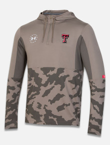 """Texas Tech Red Raiders Under Armour """"Military Appreciation"""" Hooded Quarter Zip"""
