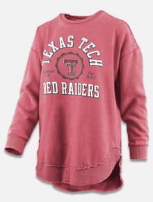 "Pressbox Texas Tech Red Raiders ""Bishop"" Hi Low Hem Crew Pullover"