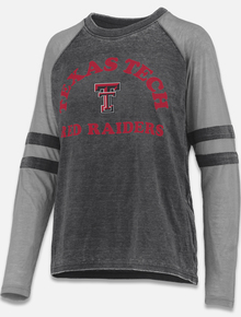 Pressbox Texas Tech Red Raiders Piper Vintage Wash Raglan Long Sleeve Tee front