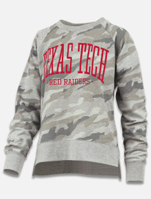 Pressbox Texas Tech Red Raiders Oakland French Terry Crew Neck Pullover