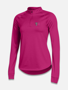 """Texas Tech Red Raiders Under Armour Women's """"Power In Pink"""" Rally Quarter Zip"""