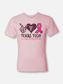 "Texas Tech Red Raiders ""All Heart Pink Power"" Breast Cancer Awareness Front"