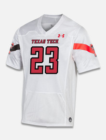 """Texas Tech Red Raiders Under Armour """"Sideline 2020"""" Football Jersey in White"""