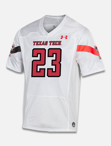 "Texas Tech Red Raiders Under Armour ""Sideline 2020"" Football Jersey in White"