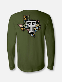 "Texas Tech Lonestar Pride Logo ""Wildflower"" Long Sleeve"