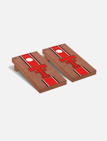 "Texas Tech Red Raiders Solid Wood 2x4 Cornhole Board Set - ""Rosewood"""