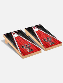"Texas Tech Red Raiders Solid Wood 2x4 Cornhole Board Set - ""Weathered Triangle"""