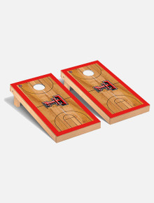 "Texas Tech Red Raiders Solid Wood 2x4 Cornhole Board Set- ""Basketball Court """