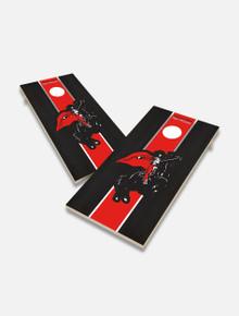 "Texas Tech Red Raiders Solid Wood 2x4 Cornhole Board Set- ""Rearing Rider"""