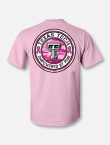 "Texas Tech Red Raiders ""Pink War Paint"" Breast Cancer Awareness T-Shirt Back"